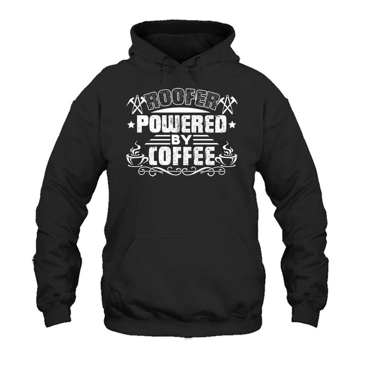 Two Camel Roofer Powered by Coffee Tee Shirt Cool Sweatshirt Hoodie