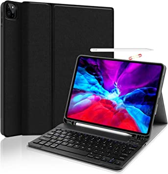 Detachable Bluetooth Keyboard with Touchpad Built-in Pencil Holder Tablet Case for iPad Pro 11,Rose Gold Support Pencil 2nd Gen Charging Keyboard Case for iPad Pro 11 2020