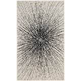 Cheap Safavieh Evoke Collection EVK228K Contemporary Burst Black and Ivory Area Rug (2'2″ x 4′)