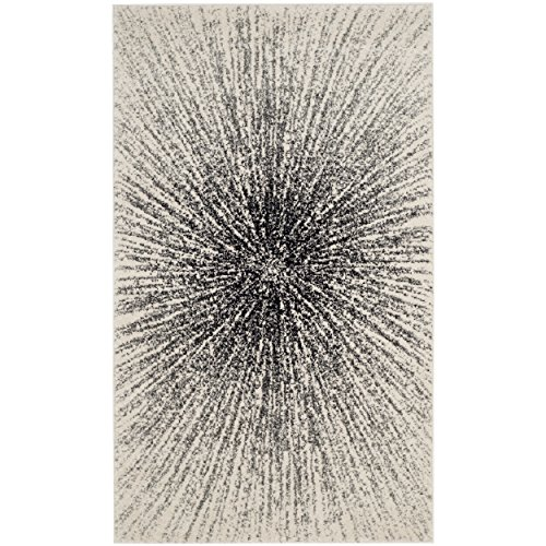 Safavieh Evoke Collection EVK228K Contemporary Burst Black and Ivory Area Rug (2'2