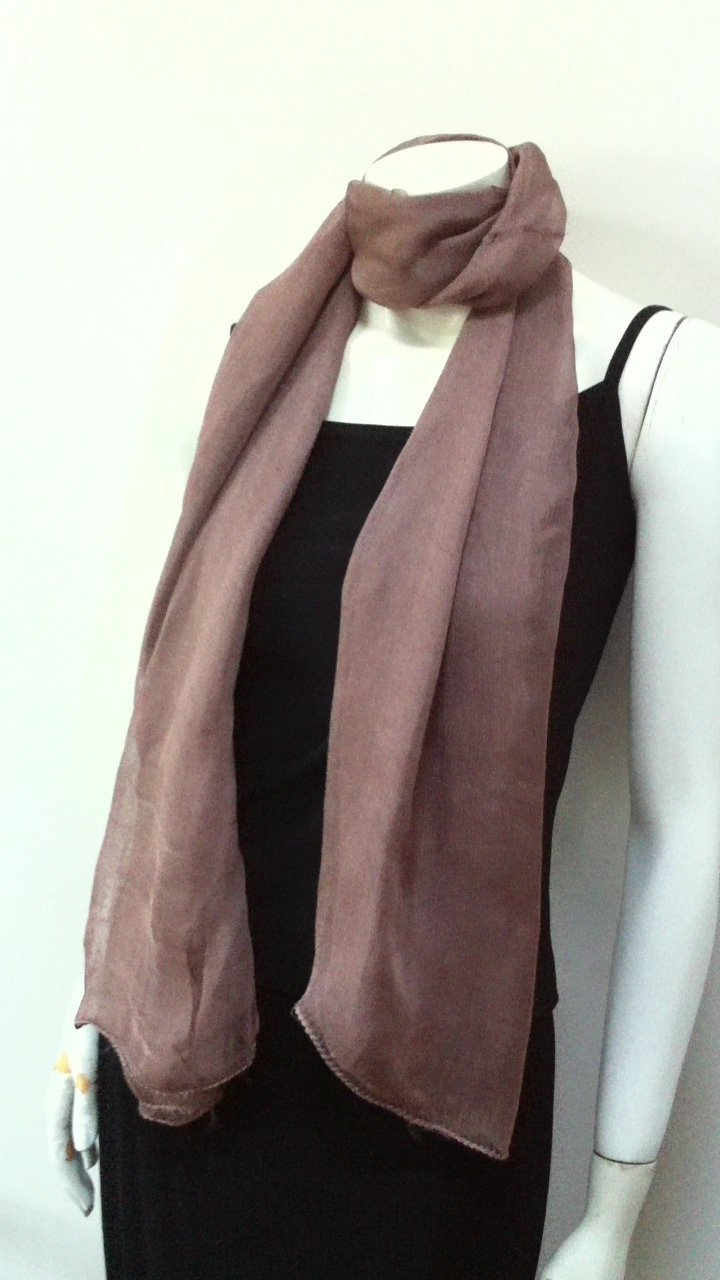 Long Full Size Scarf Beige Brown Coffee Color, Cool Summer Accessory, Neck Wear Wrap, Great Affordable Gift for Girls Women Ladies