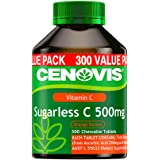 Cenovis Sugarless C 500mg - Chewable Vitamin C Tablets - Relieve the severity of common cold symptoms