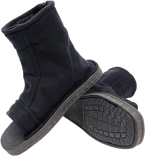 DAZCOS Unisex Black Shippuden Shoes for Cosplay [US 5 - US 11] [ Adult/Child ]