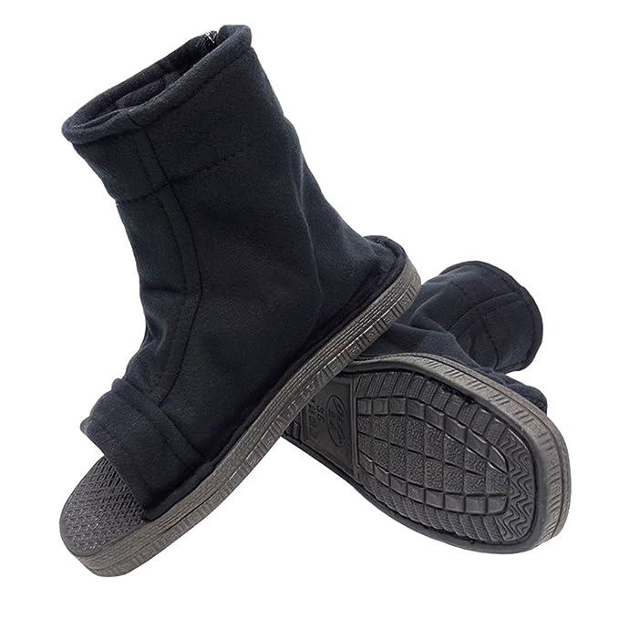 DAZCOS Negro Naruto Shippuden Ninja Zapatos [US 5 - Nosotros ...