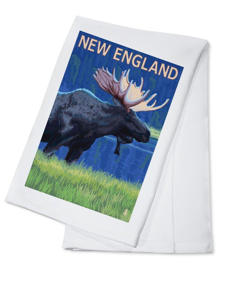 ムースat Night in New England Cotton Towel LANT-31130-TL B017E9WIQI  Cotton Towel