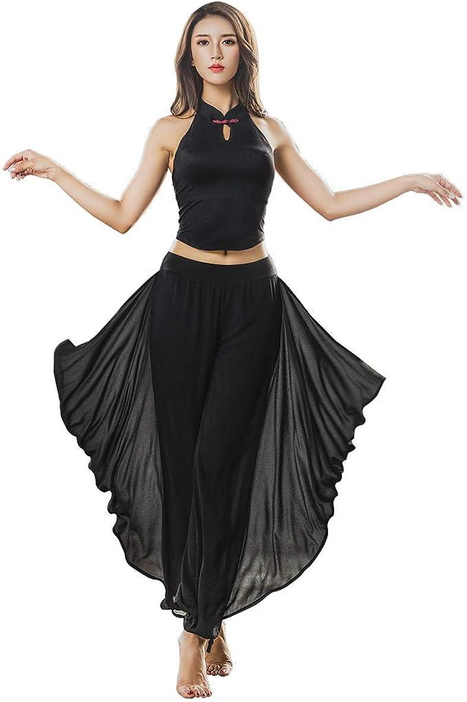 Amazon.com: KSUA Mujeres Danza Yoga Ropa Elegante Aerial ...