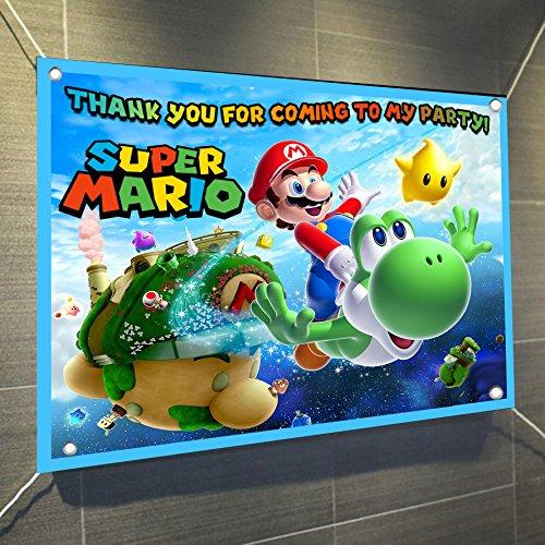 Super Mario Bros Banner Video Game Large Vinyl