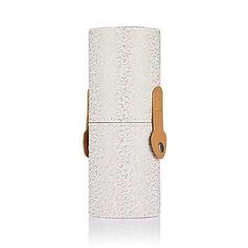 Frcolor Maquillaje soporte almacenamiento caso bote cepillo cosmético portaescobillas (blanco): Amazon.es: Belleza