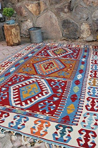 turkish rug kilim rug x ft 117 x 177 cm area rug tapis rug bohemian rug turkish. Black Bedroom Furniture Sets. Home Design Ideas
