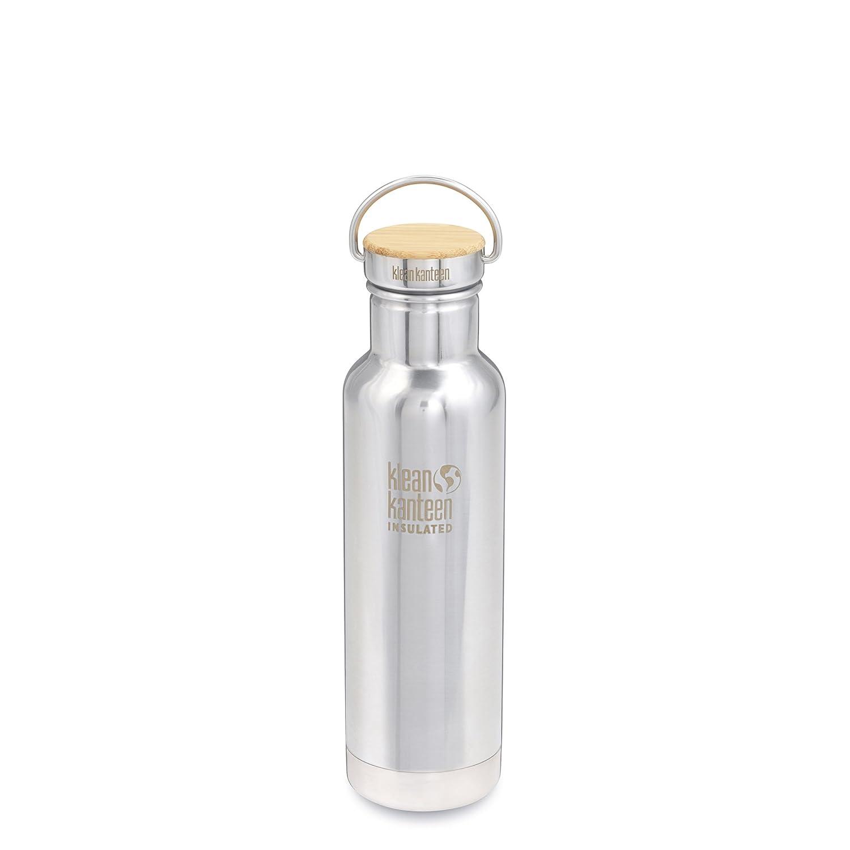 Klean Kanteen Reflect Doble Pared Aislado al vacío plástico Libre de Botella de Agua de Acero Inoxidable con Tapa de Acero Inoxidable y bambú