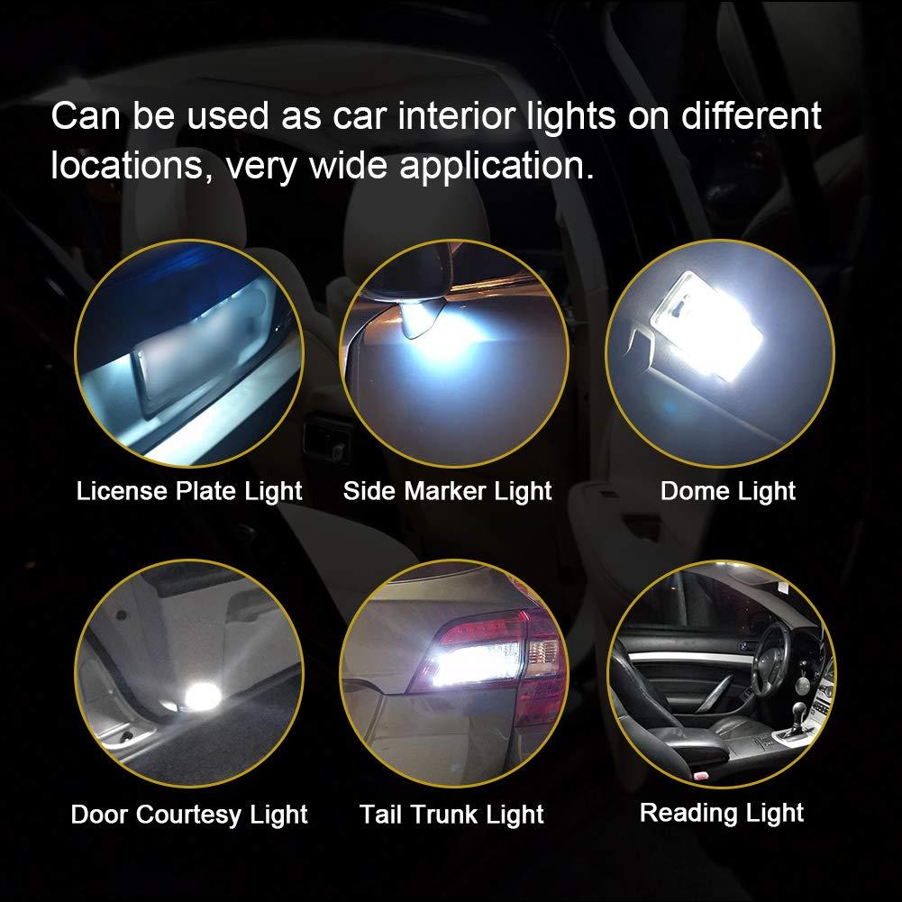 GOUSHINE 2x T15 W16W LED Ampoule 48 SMD 3014 921 912 pour Lumi/ère LED Sauvegarde Invers/ée Ampoule Voiture Blanc X/énon 6000K 12V