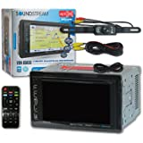 """Soundstream VRN-65HXB Double DIN 2DIN 6.2"""" Car GPS Navigation MP3 CD DVD player Bluetooth Sirius XM Ready + DCO Waterproof Backup Camera with Nightvision (Optional camera)"""