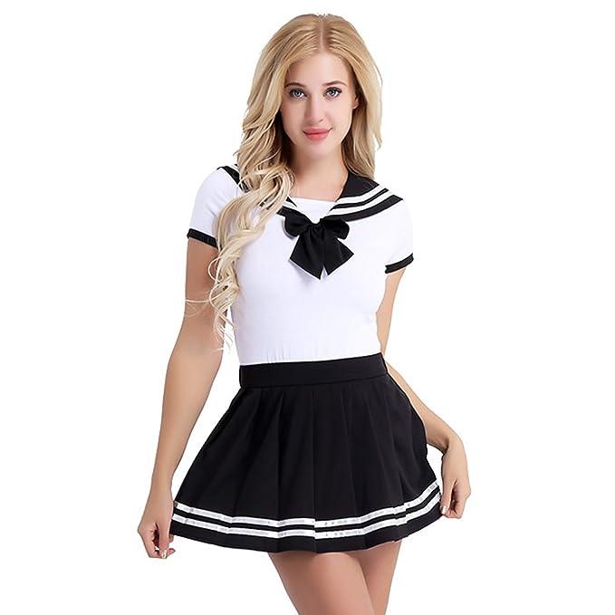 0df0a42fc iiniim Sexy Disfraz Escolar Mujer Lencería Ropa Erótica Conjunto ...