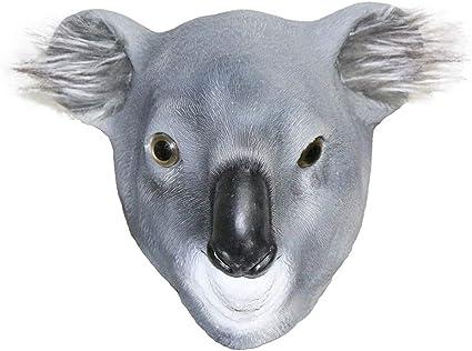 YO Máscara de Koala para Halloween, de látex, con Cabeza Completa ...
