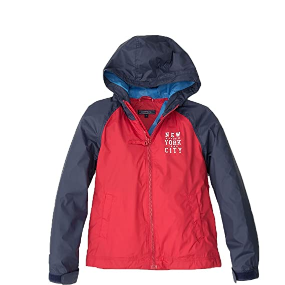 7d05cd559 Tommy Hilfiger Baby Boys  Raincoat Red Red and Navy  Amazon.co.uk ...