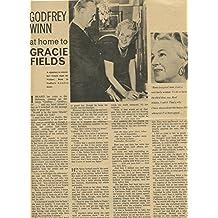 Gracie Fields original clipping magazine photo 1pg 8x10 #R2669