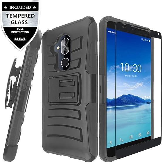 new arrival 3450d 82011 Alcatel 7 Case, T-Mobile Revvl 2 Plus Case, Alcatel 7 Folio Case with  Tempered Glass Screen Protector,IDEA LINE Heavy Duty Armor Shock Proof Dual  ...