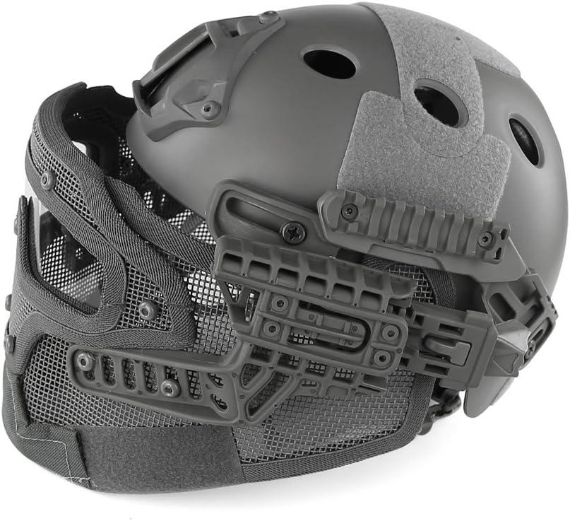 MAKE FINE Casco Integral De Camuflaje Sistema G4 Protección del Casco Máscara De Acero con Bajo Contenido De Carbono Casco Paintball Casco Equipo De Juego CS