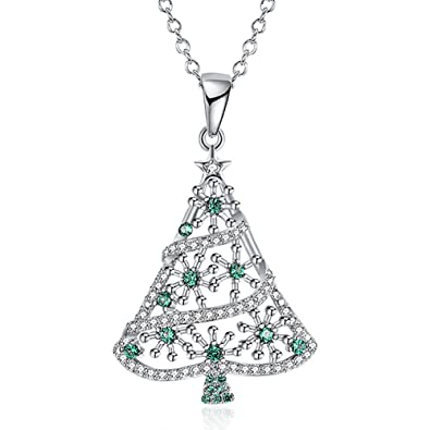 Amazon bling snowflake crystal christmas tree with star bling snowflake crystal christmas tree with star pendant charm necklace for girlchristmas gift aloadofball Choice Image