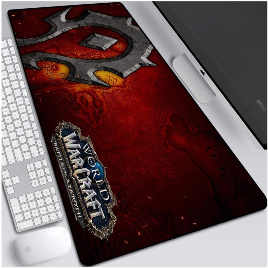 Pc FNCNB Tapis De Souris World of Warcraft 800X300Mm pour Ordinateurs Portables Clavier /Étendu Tapis De Souris Professionnel De Jeu Mousepad avec Base De 3Mm D/Épaisseur