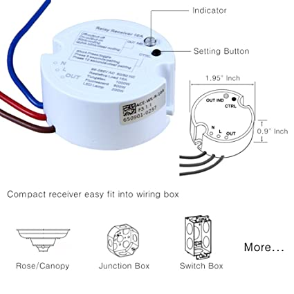 Acegoo Wireless Lights Switch Kit No Battery Wiring Quick. Acegoo Wireless Lights Switch Kit No Battery Wiring Quick Create Or Relocate Onoff Switches For Ls Fans Appliances Selfpowered Remote. Wiring. Magic Switch Diagram Wiring Closet At Scoala.co