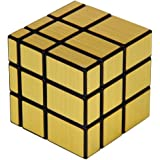 spincart Mirror Cube 3x3 Rubik Cube High Speed Brainstorming Puzzle Game Toy (Golden)