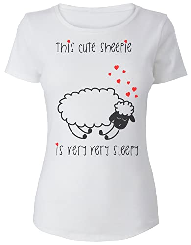 This Cute Sheepie is Very Very Sleepy La camiseta de las mujeres