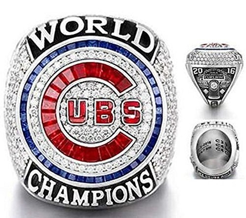 World Series Replica - 2016 CHICAGO CUBS WORLD SERIES RING REPLICA (ENGRAVED) SIZE 9 Bryant