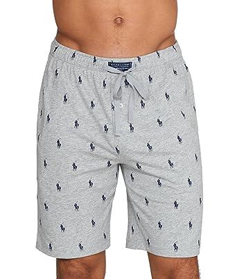 050ddea17 Polo Ralph Lauren Men s Knit Sleep Shorts Andover Heather Cruise Navy Aopp  Small