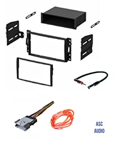 ASC GM510 Car Stereo Dash Kit, Wire Harness, and Antenna Adapter to Install an Aftermarket Radio for some GM Vehicles - Important Compatible Vehicles and Restrictions Listed Below