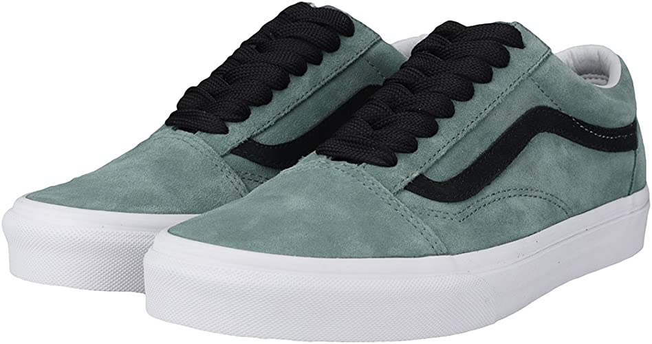 Vans Old Skool Oversized Lace Hommes Baskets Green Black