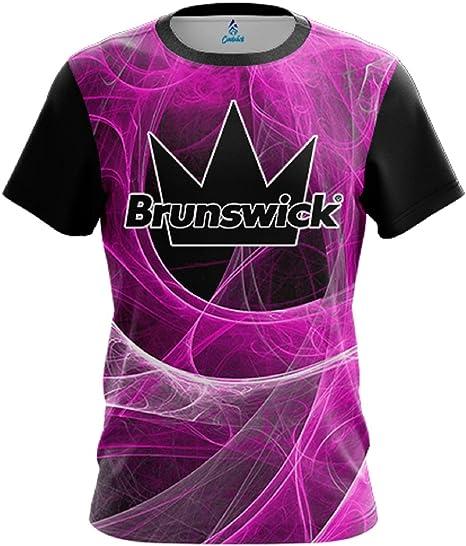 CoolWick Storm Energy Swirls Pink Bowling Jersey