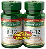 Nature's Bounty B12 Twin Pack, 40+40 Quick Dissolve Tablets For Sale