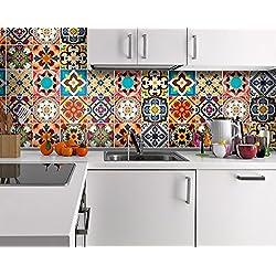 Talavera | Tradicionales Mexicanos | Vinilo para Azulejos | Azulejos Decoración | Azulejos para Baño y Cocina | Decoración Mexicana