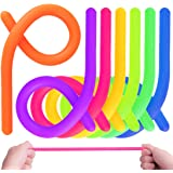 KeNeer 7Pack Stretchy String Fidget Sensory Toys - Relieve Stress, and Increase Patience - Build Resistance Squeeze, Pull - Good for kids with ADD, ADHD or Autism, and Adults to Strengthen Arms