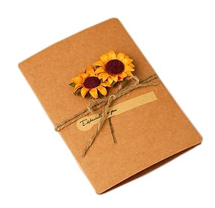 3 x Packs of Six Sunflower Notecards and Envelopes Blank Inside