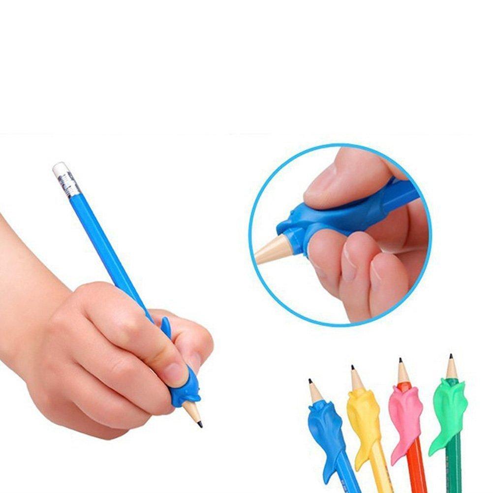 TOYMYTOY 25 Pezzi Impugnatura Matita Bambini Pencil Grip Originale Aiuto di Scrittura Universale Ergonomico di scrittura per destri e mancini Color casuale