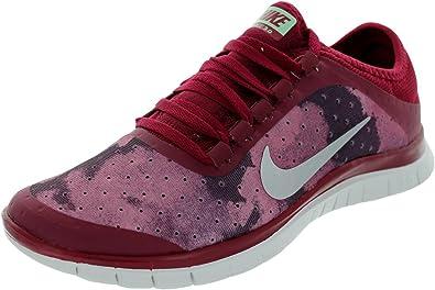 Esmerado Arenoso alcanzar  Amazon.com   Nike Women's Free 3.0 V5 EXT NBL Rd/Mtllc Slvr/Fsn Rd ...