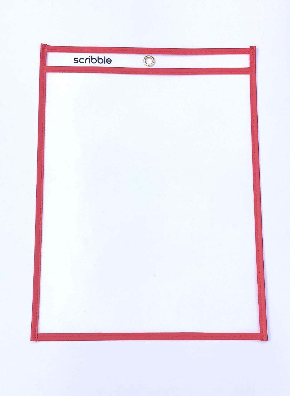 Bolsillos de borrado en seco reutilizables - Fundas transparentes de fácil carga para aulas, hogar y trabajo. Soporte de papel A4 para papel, 10 ...