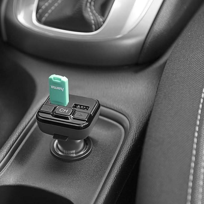 Hama Bluetooth Fm Transmitter Fürs Autoradio Mit Kfz Ladegerät Auto Adapter Für Zigarettenanzünder Buchse Mit Anschlüssen Für Microsd Usb Stick Und Zum Laden Wireless Bluetooth Transmitter Grau Navigation
