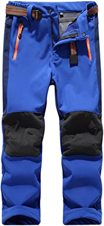 CATERTO Kids Boys Girls Waterproof Outdoor Hiking Pants Warm Fleece Lined