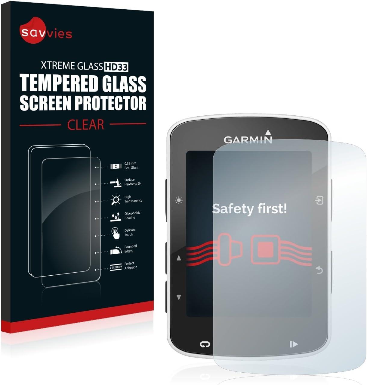 savvies Cristal Templado Compatible con Garmin Edge 820 Protector ...