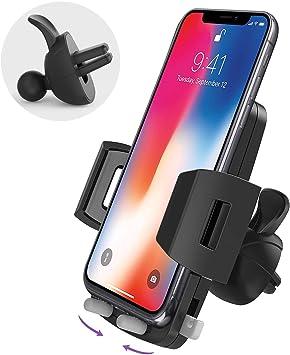 Avolare Handyhalter Fürs Auto Handyhalterung Auto Kfz Lüftung Halter 360 Grad Drehbar Für Iphone 11 Pro Xs Max Xr X 8 7 6 Samsung S10 S9 S8 S7 S6 Huawei Andere Smartphone Auto