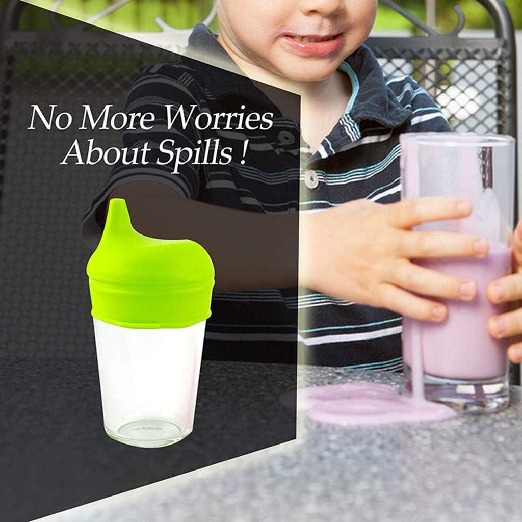 Coque en silicone Sippy couvercles en silicone anti-d/ébordement /él/éphant Tasse anti-fuites Coque Tasses pour b/éb/é tout-petits enfant dentra/înement