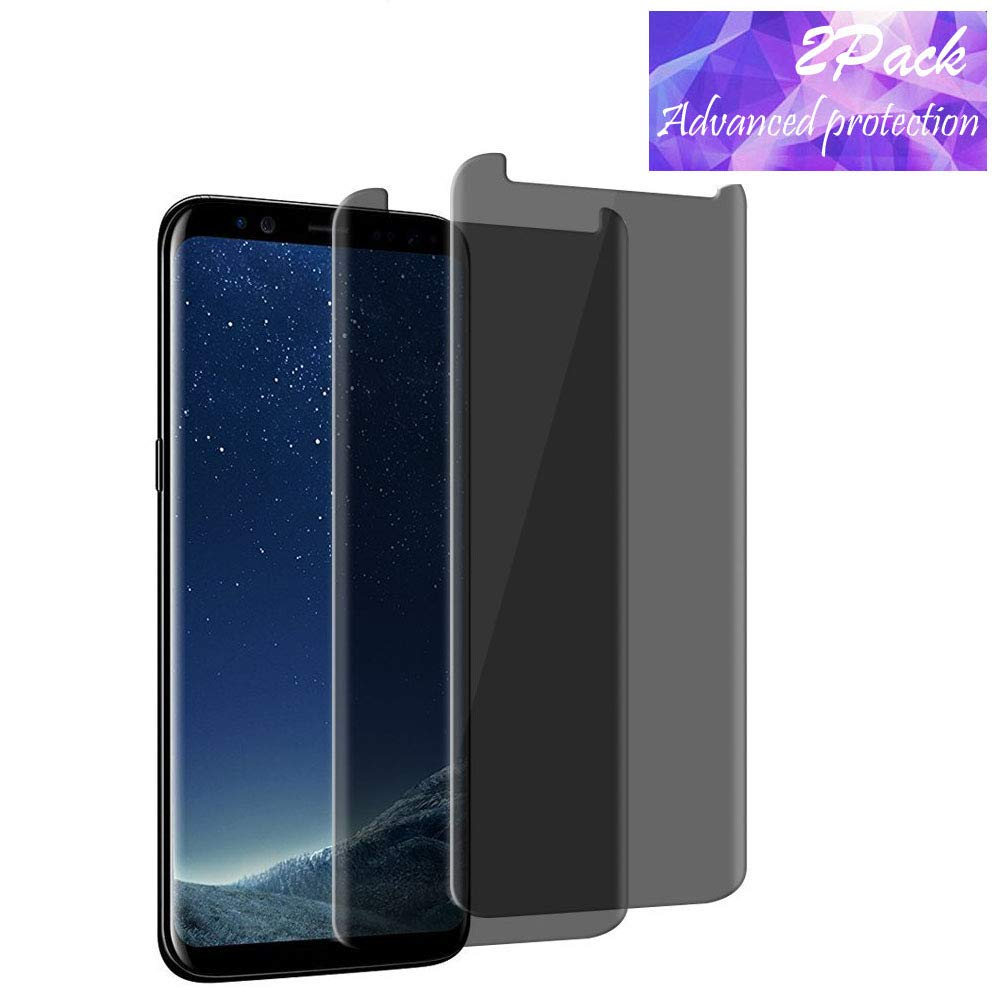 For Samsung Galaxy S8 Screen Protector Privacy Anti-Spy,DeFitch [3D Curved][Easy to install][Anti-Scratch][No Bubble][9H Hardness]Privacy Anti-Peep Tempered Glass Screen Protector For Galaxy S8 by DeFitch (Image #1)
