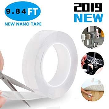 Magic Nano Tape doppelseitiges spurloses Klebeband Abnehmbares Klebeband Home DE