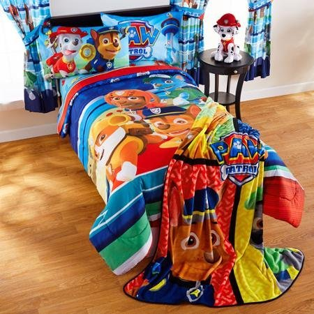 Nickelodeon Paw Patrol 5pc Full Comforter and Sheet Set Bedding Collection