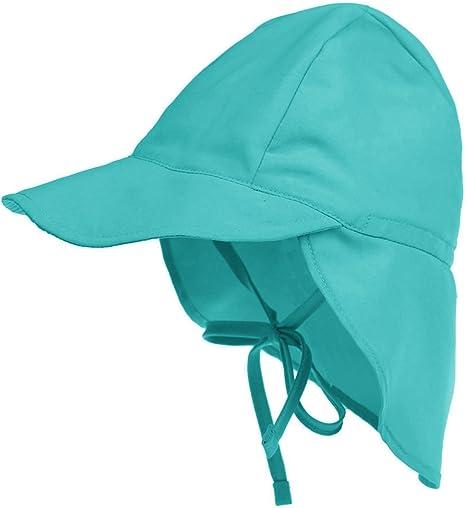 Kids Swim Flap Hat UPF50 Beach Legionnaire Hat for Children Flap Sun Protection Swim Hat with Chin Strap