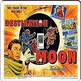Rikki Knight RK-LSPS-3705 Vintage Movie Posters Art Destination Moon 2 Design Light Switch Plate Cover