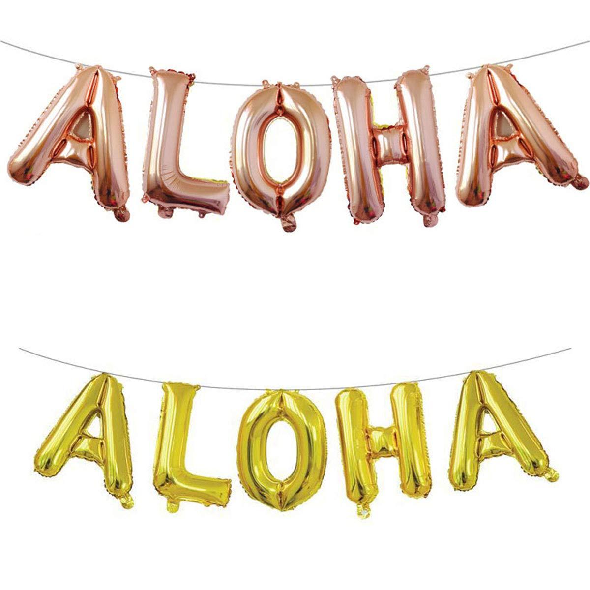 16 Inch Metal Balloons Party Decoration Luoem 1 set Aloha Hawaiian foil Ballons